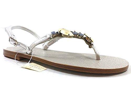 Eddy daniele 37 eu sandali donna gioiello argento pelle/cristalli swarovski ax873