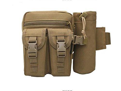 Zll/Camo Tactical Wasser Flasche Taschen Running Outdoor Wasser Cup für Sport Klettern Wasser Taschen, Casual Taschen Taschen wolf brown