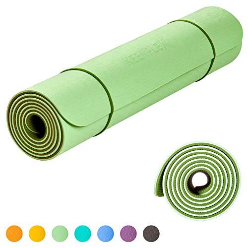 KeenFlex - Esterilla de Yoga antideslizante y...