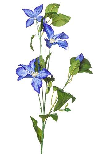 artfleur – künstlicher Clematis-Zweig Waldrebe 75 cm im 24er Set (blau)
