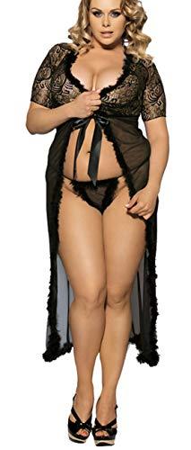 Kostüm Sexy Hochzeit - marysgift Damen Nachtkleid Sinnliche Damen Nachtwäsche Negligee Dessous Kostüm Hochzeit Cami Set Sexy Lange Erotik Bustier Seite Teilt Kleid Maxi Dress Vasual Babydoll Mesh Skirt