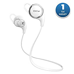 ACID EYE QCY Universal APT-X Bluetooth V4.1 Wireless Stereo Headphones || With Bluetooth version 4.1 || Hands-Free Calling|| Compatible with iPhone, iPad, Samsung, Nokia,HTC ,LG,Moto,and Others Android Smartphone ||Stereo Sound Quality|| White