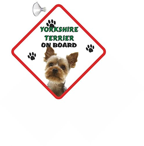 Yorkshire Terrier (Young) Hund zum Aufhängen AUTO Schild mit Gummi Sucker 262 -