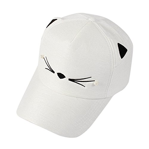 95e4228f7f2556 VECOLE Run Cap Spring Fashion Trends Perle Wild Niedlich Student Cat Ear  Shade Baseball Cap Unisex