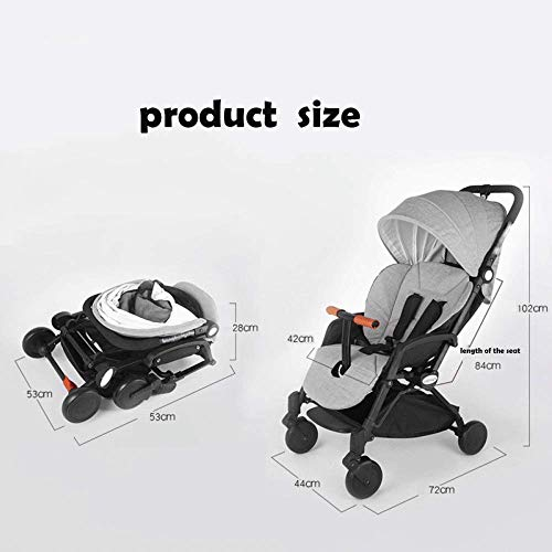 Double Strollers Baby Pram Tandem Buggy Newborn Pushchair Ultra Light Folding Child Shock Absorber Trolley Can Sit Half Lying 0-3 Years Old(Maximum Loadable 50Kg Baby),Mickey+Minnie  CAH