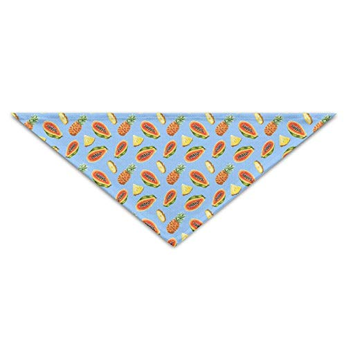 Sdltkhy Watercolor Papaya Pineapple Pattern Triangle Pet Scarf Dog Bandana Pet Collars Dog Cat - Birthday