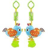 HENGSONG Baby Spielzeug Kinderwagenkette Hängende Stoff Spielzeug für Bettchen, Kindersitz und Kinderwagen (Vögel)