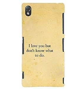 PrintVisa Designer Back Case Cover for Sony Xperia Z3 Compact :: Sony Xperia Z3 Mini (Love Quote :: Beautiful love quote :: I Love You Quote :: Quotation)
