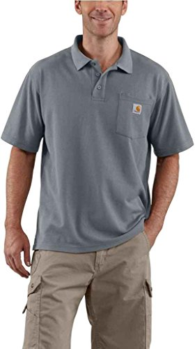 Carhartt Herren Bauunternehmer Arbeit Pocket Polo Original Fit K570 Steel Blue