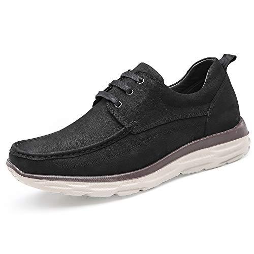 CHAMARIPA Zapatos de Mocasines para Hombres - 7CM Elevación Interior - Zapatos Elegantes con Cordones...