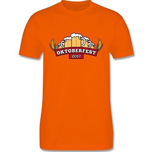 Oktoberfest Herren - Oktoberfest 2017 Krüge - Herren Premium T-Shirt Orange