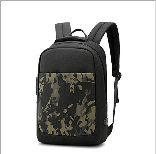 GAOQIAN Business Laptop Rucksack Anti-Theft College Rucksack Lade für Männer Casual Wandern Travel Daypack,Black
