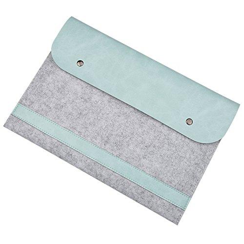 EooCoo Laptop-Tasche, Filz, Mikrofaser LederHülle Ultrabook Laptop Tasche Filz Sleeve Speziell für Macbook Air / Pro / Retina 13