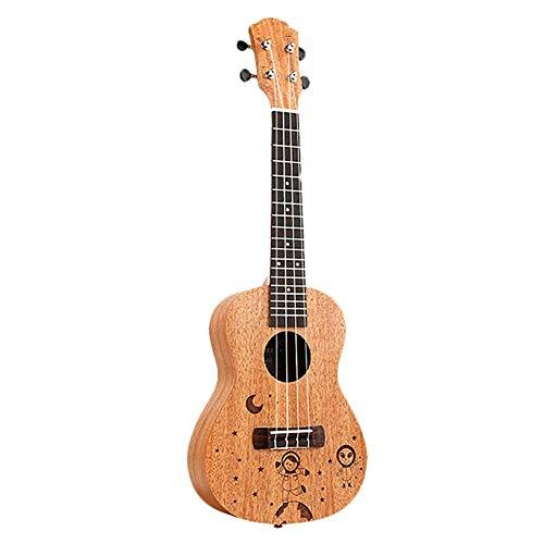 ZGHNAK Ukulele da concerto da 23 pollici Mini chitarra hawaiana a 4 corde Uku Spacewalk Pattern Chitarra acustica Mogano palissandro Ukelele