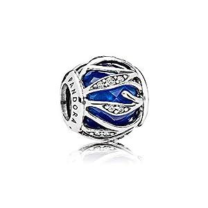 Pandora Charm Blätter-Glanz Royalblau 791969NCB