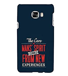 FUSON Mans Spirit From Experience 3D Hard Polycarbonate Designer Back Case Cover for Samsung Galaxy C5 SM-C5000