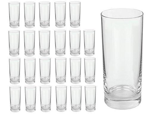 Van Well Gala Longdrinkglas, Tumbler, Softdrink-Glas, Wasserglas, 280 ml, im 24er-Set