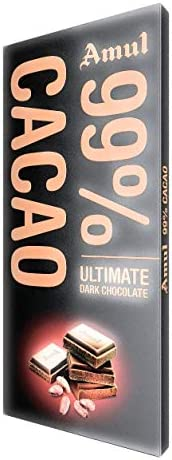 Amul 99% Cacao Chocolate, 125g (Pack of 2)