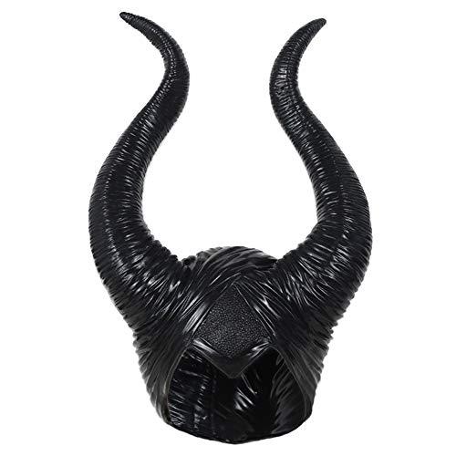 Myconvoy Maleficent Horns Hat Maleficent Kostüm Damen, Halloween Kostüm Evil Queen Kostüm Deluxe Kopfbedeckung für Damen Mädchen Herren Erwachsene (Maleficent' Kopfbedeckung Kostüm)