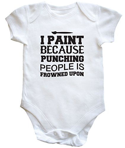 hippowarehouse-i-paint-because-punching-people-is-frowned-upon-baby-vest-boys-girls