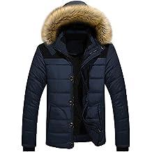 buy online fd012 caf9c piumino con pelliccia uomo - Amazon.it