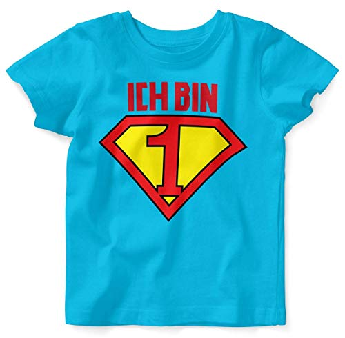 Jungen Superman Kostüm T SHIRT - Mikalino Baby/Kinder T-Shirt mit Spruch für