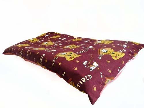 Heruasragendes, mittelgroßen Hundebett mit abnehmbarem Bezug mit Reißverschluss, waschbar., Haustierkissen in rot–Bedding Direct UK -