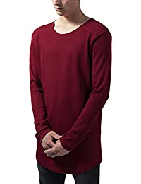Urban Classics Long Shaped Waffle L/S Tee, T-Shirt Homme