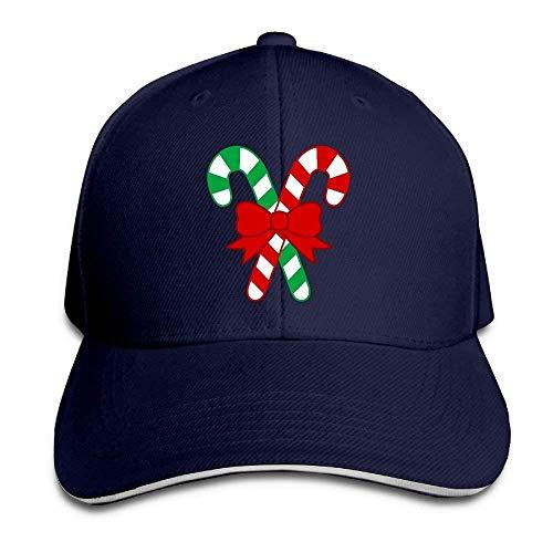 ruishandianqi Holiday Christmas Candy Cotton Adjustable Peaked Baseball Cap Adult Sandwich Hat