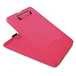 2 , Each : Saunders SlimMate Plastic Storage Clipboard, Letter Size, 8.5 x 12 Inch, Pink (00835) (2, Each)