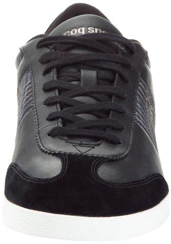 Le Coq Sportif Mexico Lea/Plaid, Baskets mode homme Noir (Black)