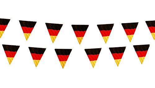 HAAC Fahnen Girlande Wimpelkette in Deutschlandsfarben Deutschland 3,6 Meter Fußball EM 2016