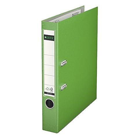 Leitz 10155050 Plastik Qualitäts-Ordner 180° (mit Schlitzen, A4, schmal) hellgrün