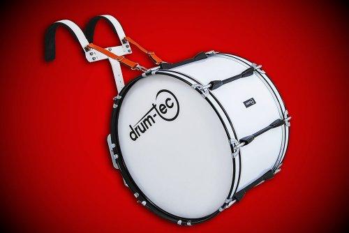 """Marching Bass Drum / Fan-Trommel / große Trommel / Pauke ++ mit Tragegestell ++ Größe 20"""" x 12"""" (50cm x 30cm) weiss (MBC-2012LC)"""