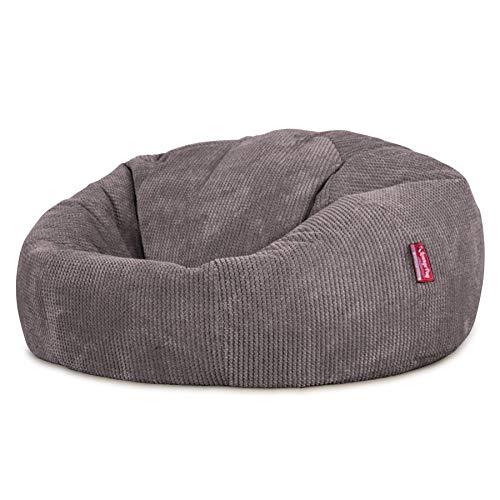 Lounge Pug®, Pouf Canapé Classique, Pouf Geant, Pompon Anthracite