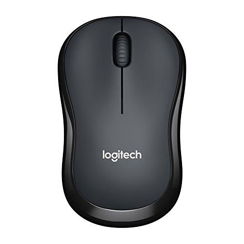 Logitech M220Silent Optische 1000Dpi Wireless RF Beidhändig Holzkohle-Maus (RF Kabellos, Büro, Tasten Pressoirs, Rad, Optisch, 1000DPI)