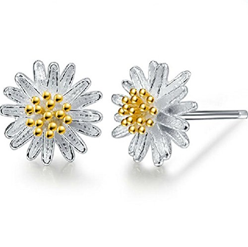 winters-secret-fashion-girl-lovely-little-golden-flower-holy-daisy-silver-stud-earring