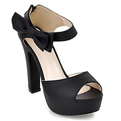 Minetom Damen Sommerschuhe Elegante Pumps High Heels Sandalen