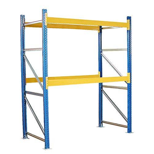 Palettenregal mit 2 Paar Tragbalken, Stecksystem, HxBxT 3500 x 2785 x 1100 mm, kunststoffbeschichtet, Fachlast 2600 kg/Tragbalkenpaar