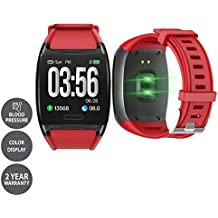 LCARE Watch with Blood Pressure, Heart Rate Monitor, Smart Activity Tracker, Alert for Android and iPhone