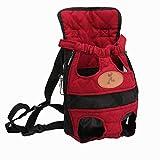 KXIN Pet-Out-Transport-Rucksack, Katzentransport-Rucksack, Einfach Zu Bedienen, Weich und Komfortabel Mesh-Belüftung,Red,XL