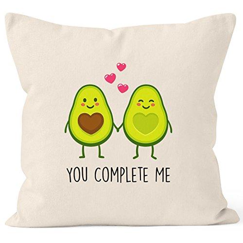 Deko Kissen Bezüge Baumwolle - MoonWorks Kissen-Bezug Avocado - You Complete