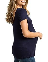 Cinnamou-mujer Premamá y de Lactancia,Camiseta Para Mujer Top Mangas Cortas Camiseta de