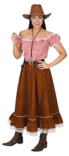Blusen Cowgirl (Kostüm Cowgirl mit Bluse und Rock 36/38)
