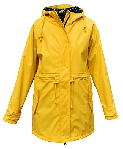 modAS Damen Regenmantel gefüttert, Farbe:gelb, Größe:40/42