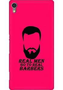 AMEZ designer printed 3d premium high quality back case cover for Sony Xperia C670X (Real Men Go to Real Barbers)