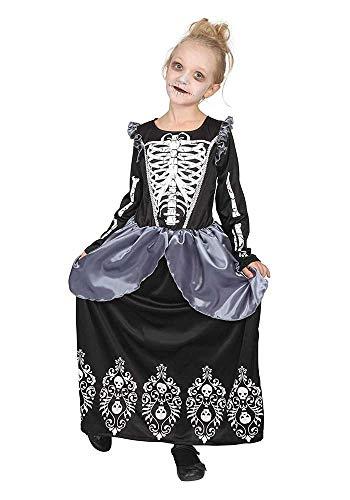Mr.Giggelz Kinderkostüm - Skelett-Prinzessin Größe S Halloween-Kostüm Mädchen