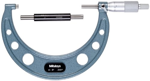 Mitutoyo 103-181 Series-103 Outside Micrometre with Ratchet Stop, 4