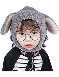 Bonnet Enfant Fille Bébé Chapka Chapeau Tricot Chapeau pour Bebe Naissance  Chapeau Déguisement Oreille Lapin Tour Cou Cache Oreille… 599c1a36884