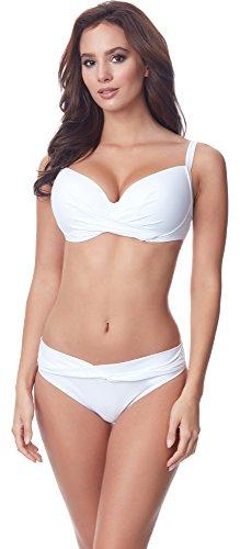 Merry Style Damen Bikini Set P654-25TSG(Weiß, Cup 85 D/Unterteil 42)